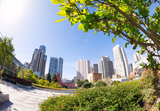 Yerba Buena Gardens park during summer sunny day Royalty Free Stock Images