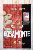 Yerba kompis som annonserar i Corrientes, Argentina arkivbilder