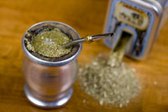 Yerba Mate. Traditional yerba mate tea popular in latin america Stock Image