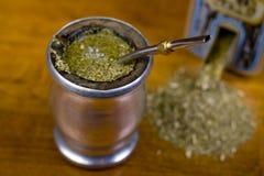 Yerba Mate. Traditional yerba mate tea popular in latin america Stock Photo