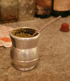 Yerba mate. A cup of yerba mate, the national drink of Argentina Paraguay and Uruguay royalty free stock photos