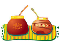 Yerba mate. Mate pots. To see similar illustrations please visit my gallery Vector Illustration