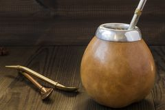 Yerba mate drink Stock Images