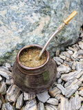 Yerba mate, bombilla and mate Royalty Free Stock Photos