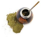 Yerba mate cup and straw Royalty Free Stock Images