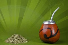 Yerba mate cup and straw Royalty Free Stock Photography