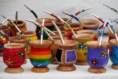 Yerba mate cups Stock Photo