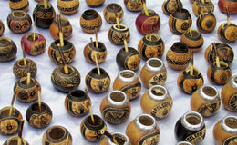 Yerba mate cups Royalty Free Stock Photos