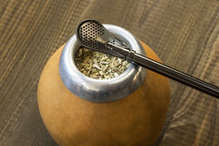 Yerba mate with dedicated accesories Stock Image