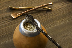 Yerba mate with dedicated accesories Stock Photo