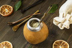 Yerba mate with dedicated accesories Stock Photos