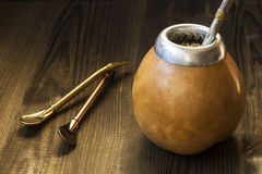 Yerba mate with dedicated accesories Royalty Free Stock Images