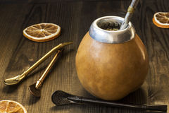 Yerba mate with dedicated accesories Royalty Free Stock Image