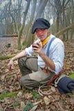 Yerba mate drinker Stock Photo