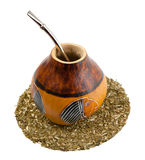 Yerba Mate Drinking Set Royalty Free Stock Photo