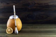 Yerba mate in gourd matero Stock Photography