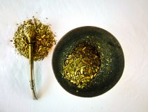 Yerba mate infusion royalty free stock image