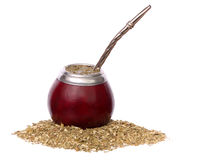 Yerba mate and mate in calabash Stock Photography