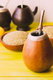 Yerba mate traditional tea in latin america selective focus Royalty Free Stock Photography
