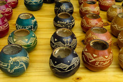 Yerba matte cups Stock Photos