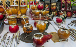 Yerba matte cups Royalty Free Stock Image