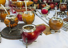 Yerba matte cups Stock Photo