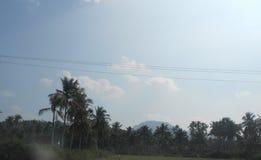 Yercaud i Tamil Nadu, en tyst liten stad i sydliga Indien Arkivfoton