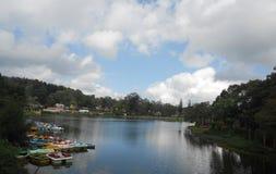 Yercaud sjö i Tamil Nadu, en tyst liten stad i sydliga Indien Royaltyfria Bilder