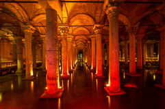Yerebatan - Istanbul. Underground basilica cistern. Byzantine water reservoir build by Emperor Justinianus - Turkey, Istanbul Stock Photography