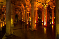 Yerebatan - Istanbul. Underground basilica cistern. Byzantine water reservoir build by Emperor Justinianus - Turkey, Istanbul Stock Images