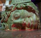 Yerebatan Medusa head. Medusa head supporting column at Yerebatan cistern (Istanbul Stock Photography