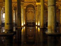 Yerebatan Sarayi, the Basilica cistern in Istanbul stock photography