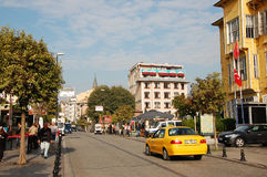 Yerebatan Street. The Yerebatan street in Istnbul at sunny morning Stock Photography