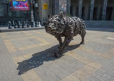 Yerevan żelaza niedźwiedź fotografia stock