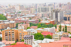 YEREVAN, ARMÉNIA, JUNHO, 23: Cidade Yerevan, montanha Imagem de Stock