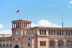 YEREVAN, ARMÊNIA - EM MAIO DE 2016: quadrado central da cidade Foto de Stock Royalty Free