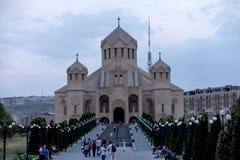 Yerevan, Armênia, o 16 de setembro de 2017: O St Gregory o mal Imagem de Stock