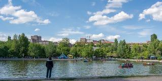 Yerevan Armenië het Park van tuinviktory Royalty-vrije Stock Foto's