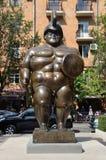 Yerevan, Armenië, 06 September, 2014 Armeense scène: Niemand, beeldhouwwerk van Gladiator in het centrum van Yerevan royalty-vrije stock afbeelding