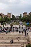 YEREVAN, ARMENIË - SEPTEMBER 21, 2017: Yerevan Cascade en g Stock Foto