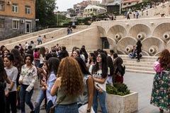 YEREVAN, ARMENIË - SEPTEMBER 21, 2017: Yerevan Cascade en g Stock Afbeelding