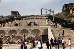 YEREVAN, ARMENIË - SEPTEMBER 21, 2017: Yerevan Cascade en g Royalty-vrije Stock Foto