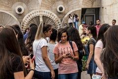 YEREVAN, ARMENIË - SEPTEMBER 21, 2017: Yerevan Cascade en g Stock Foto's