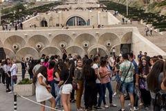 YEREVAN, ARMENIË - SEPTEMBER 21, 2017: Yerevan Cascade en g Royalty-vrije Stock Foto's