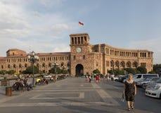 Yerevan, Armenië - September 17, 2017: Het Vierkant van de republiek in Yereva royalty-vrije stock afbeelding