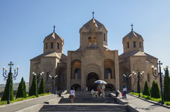 Yerevan, Armenië - Septembr 14, 2013: Kathedraal van St Gregory t Stock Foto