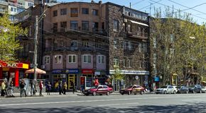 View of the downtown Yerevan city,Armenia. Royalty Free Stock Photo