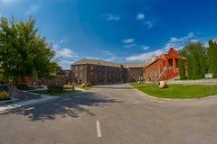 YEREVAN, ARMENIA - 05 AUGUST 2017: Noy (Ararat) Brandy factory v. YEREVAN, ARMENIA - 05 AUGUST 2017: Noy (Ararat) Brandy factory museum visit with congac tasting Stock Photo