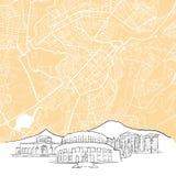 Yerevan Armenia Background Map Royalty Free Stock Photography
