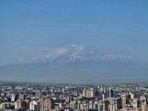 Yerevan, Armenia, in the background of Mount Ararat. The Yerevan, Armenia, in the background of Mount Ararat Stock Photography